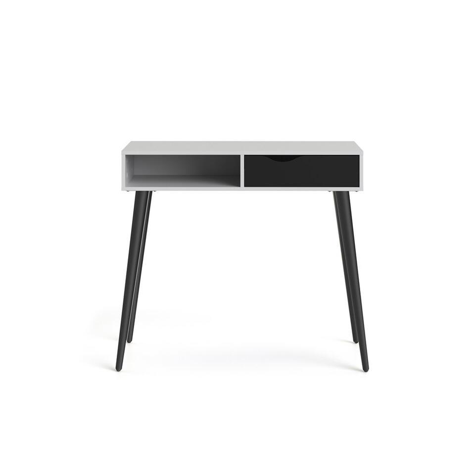 Wandtafel Delta - wit/zwart - 89,8x103x43,5 cm - Leen Bakker