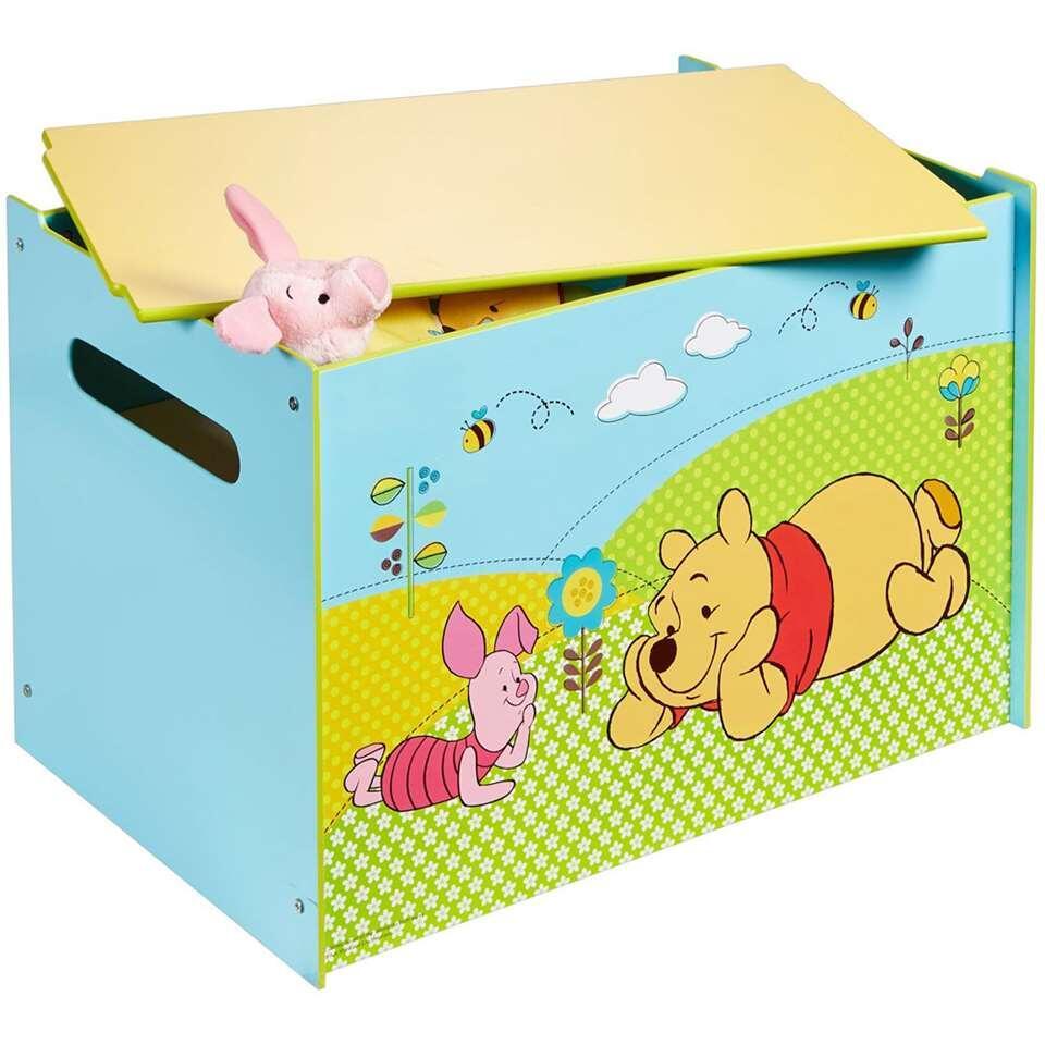 Speelgoedkist Disney Winnie de Poeh - blauw/groen - 60x40x40 cm - Leen Bakker