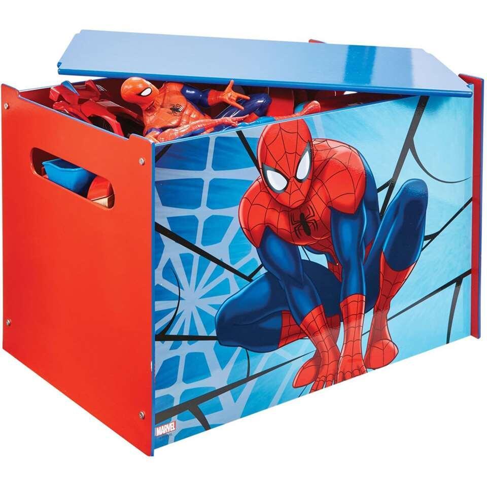 Speelgoedkist Spiderman - blauw/rood - 60x40x40 cm - Leen Bakker
