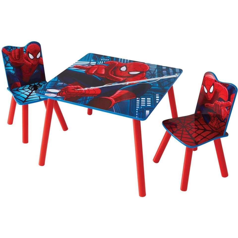 Tafel met stoeltjes Spiderman - blauw/rood - Leen Bakker