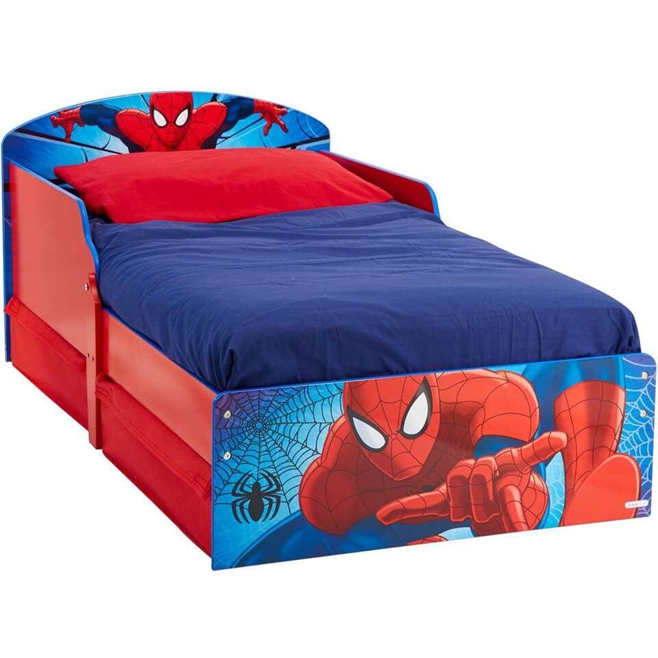 Bed Spiderman met lades - rood/blauw - 142x77x59 cm - Leen Bakker