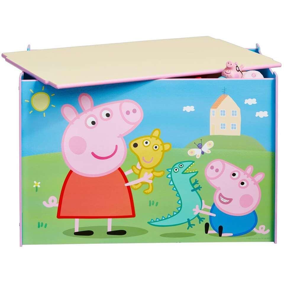 Speelgoedkist Peppa Pig - multikleur - 60x40x40 cm - Leen Bakker