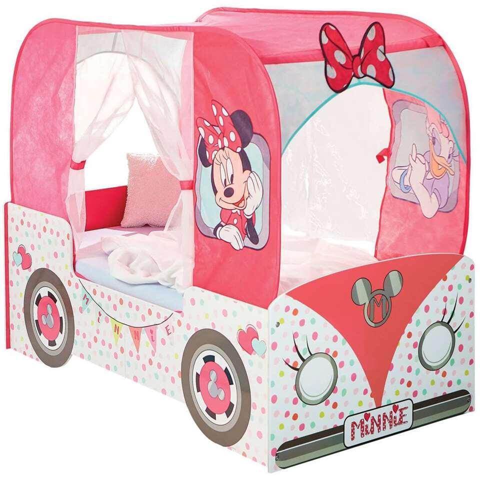 Bed Disney Minnie Mouse - wit/roze - 142x76x116 cm - Leen Bakker