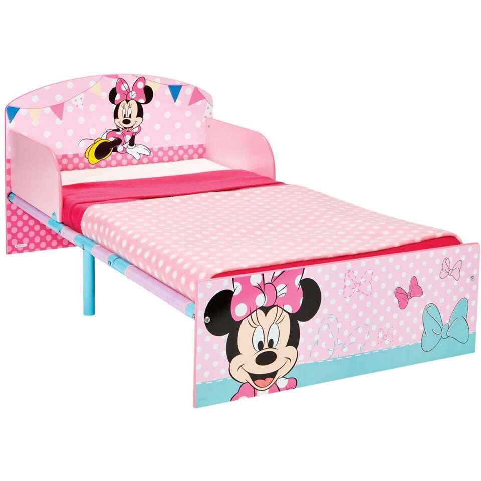 Bed Disney Minnie Mouse - wit/roze - 143x77x59 cm - Leen Bakker
