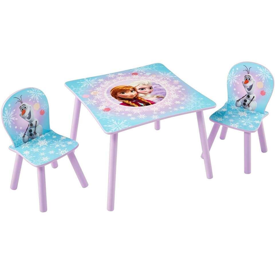 Tafel met stoeltjes Disney Frozen - paars/blauw - Leen Bakker