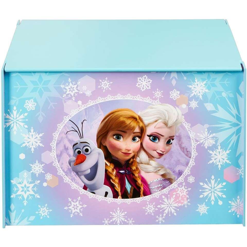 Speelgoedkist Disney Frozen - paars/blauw - 60x40x40 cm - Leen Bakker