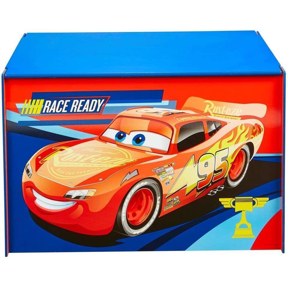 Speelgoedkist Disney Cars - blauw/rood - 60x40x40 cm - Leen Bakker