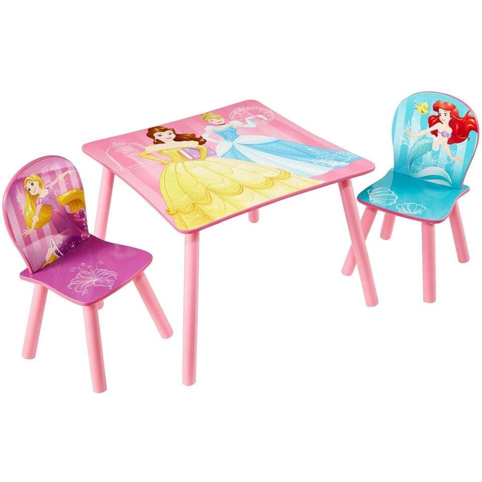 Tafel met stoeltjes Disney Princess - roze - Leen Bakker