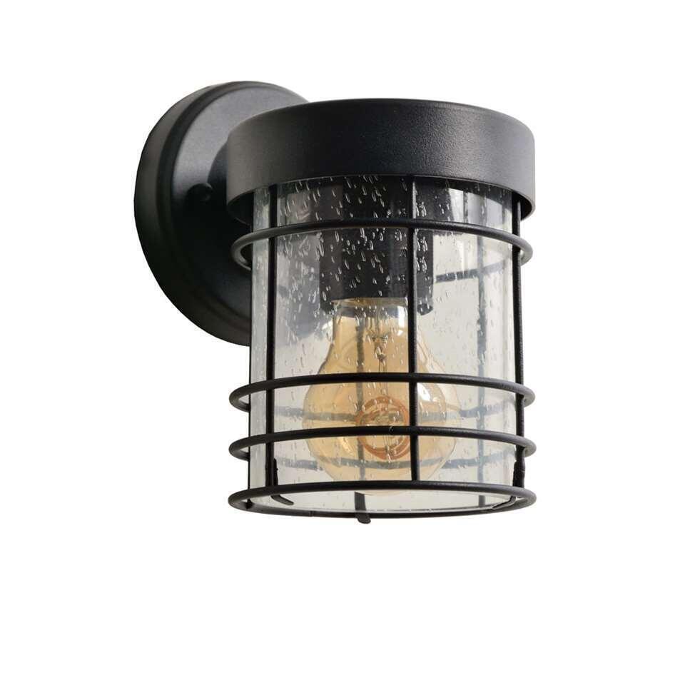 Lucide wandlamp buiten KEPPEL IP23 - zwart - 12x15,2x18,6 cm