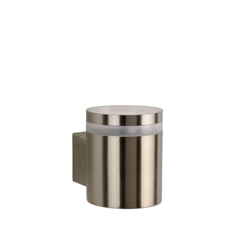 Lucide LED wandlamp buiten BASCO IP54 - mat chroom - 9 cm