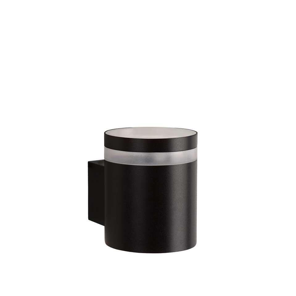 Lucide LED wandlamp buiten BASCO IP54 – zwart – Ø9 cm – Leen Bakker