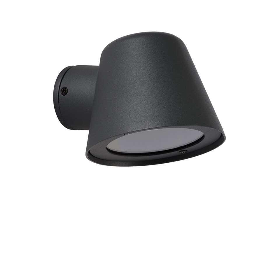 Lucide LED wandlamp buiten DINGO IP44 – antraciet – 14,5×11,5×9 cm – Leen Bakker
