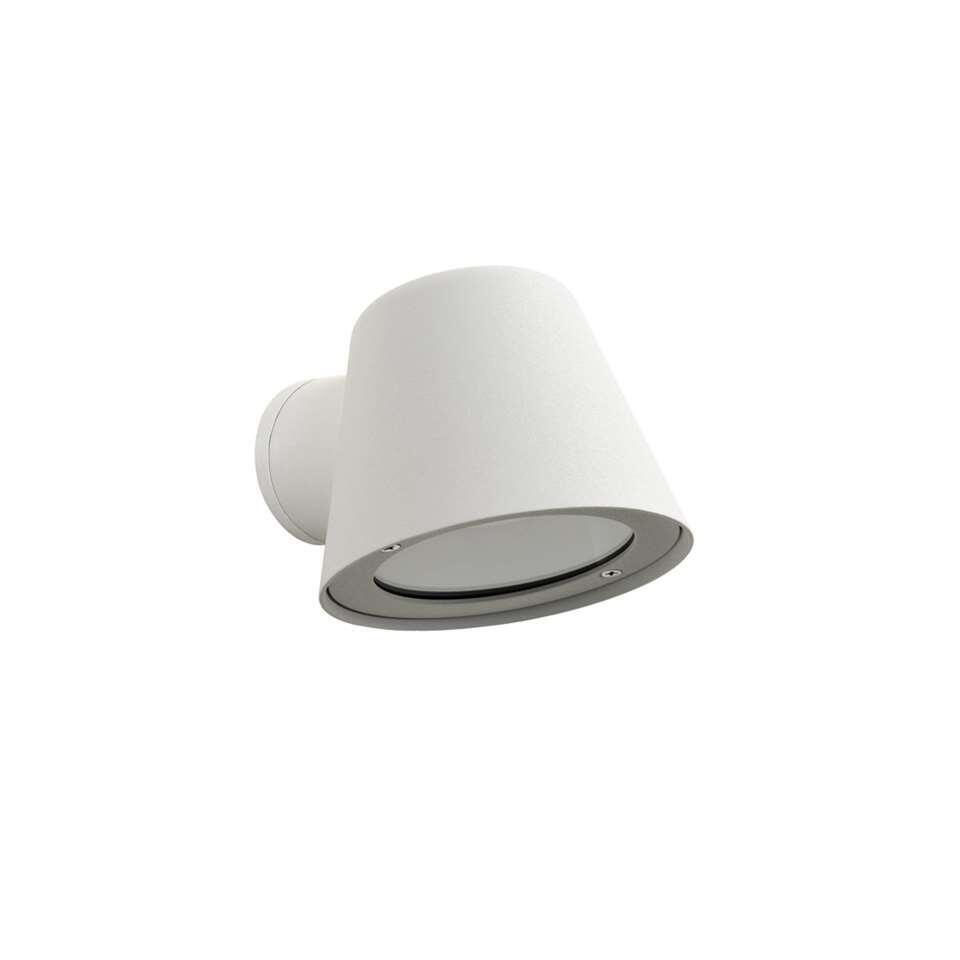 Lucide LED wandlamp buiten DINGO IP44 – wit – 14,5×11,5×9 cm – Leen Bakker