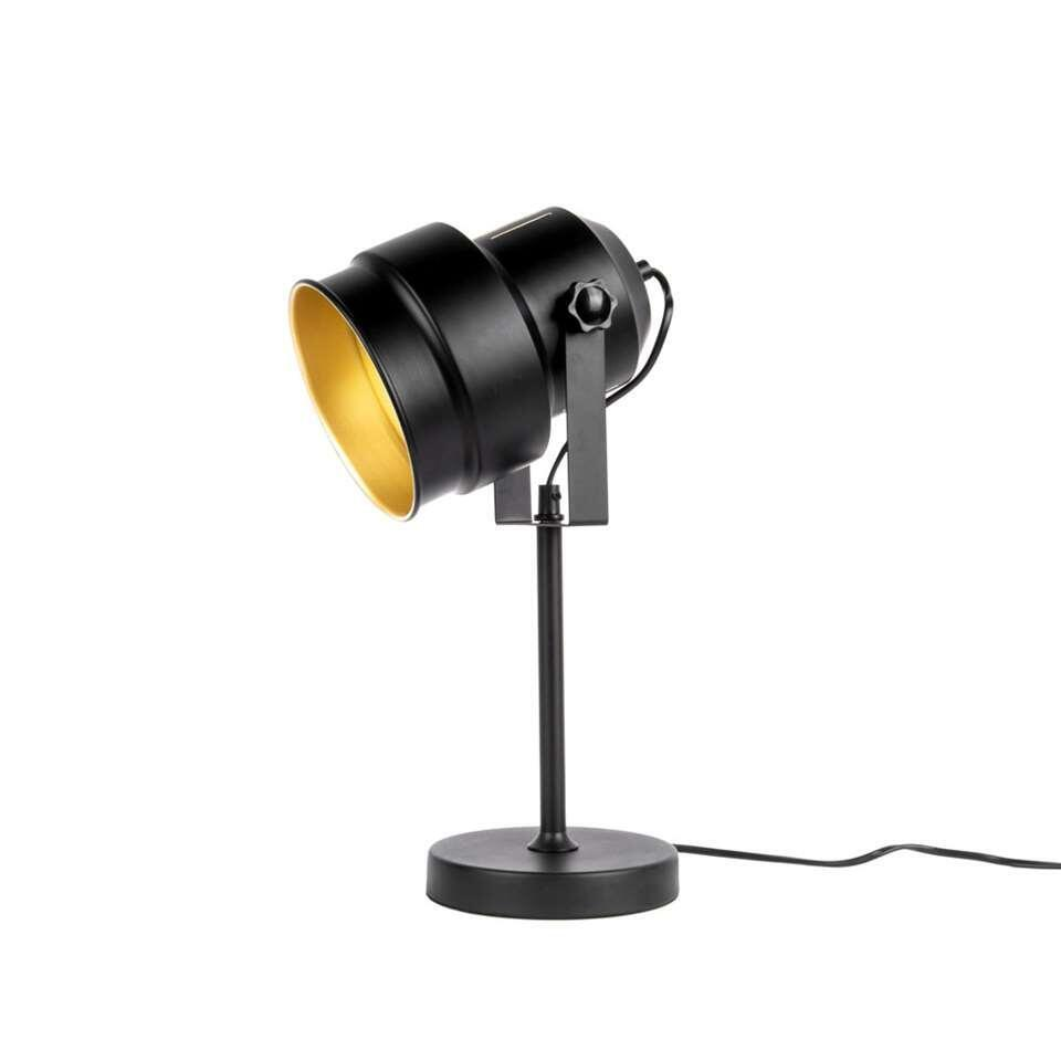 Leitmotiv tafellamp Studio – zwart/goudkleurig – Leen Bakker