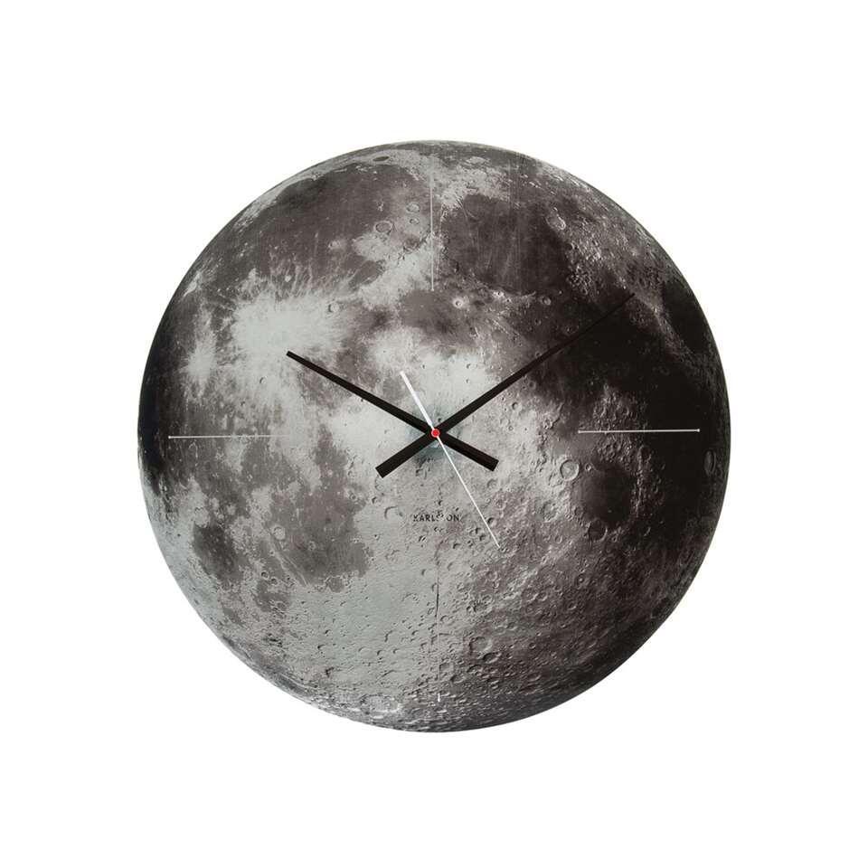 Karlsson wandklok Moon mirror - Leen Bakker