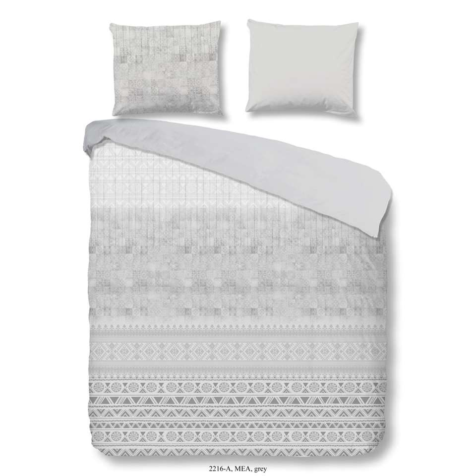 Good Morning dekbedovertrek Mea – grijs – 140×200/220 cm – Leen Bakker