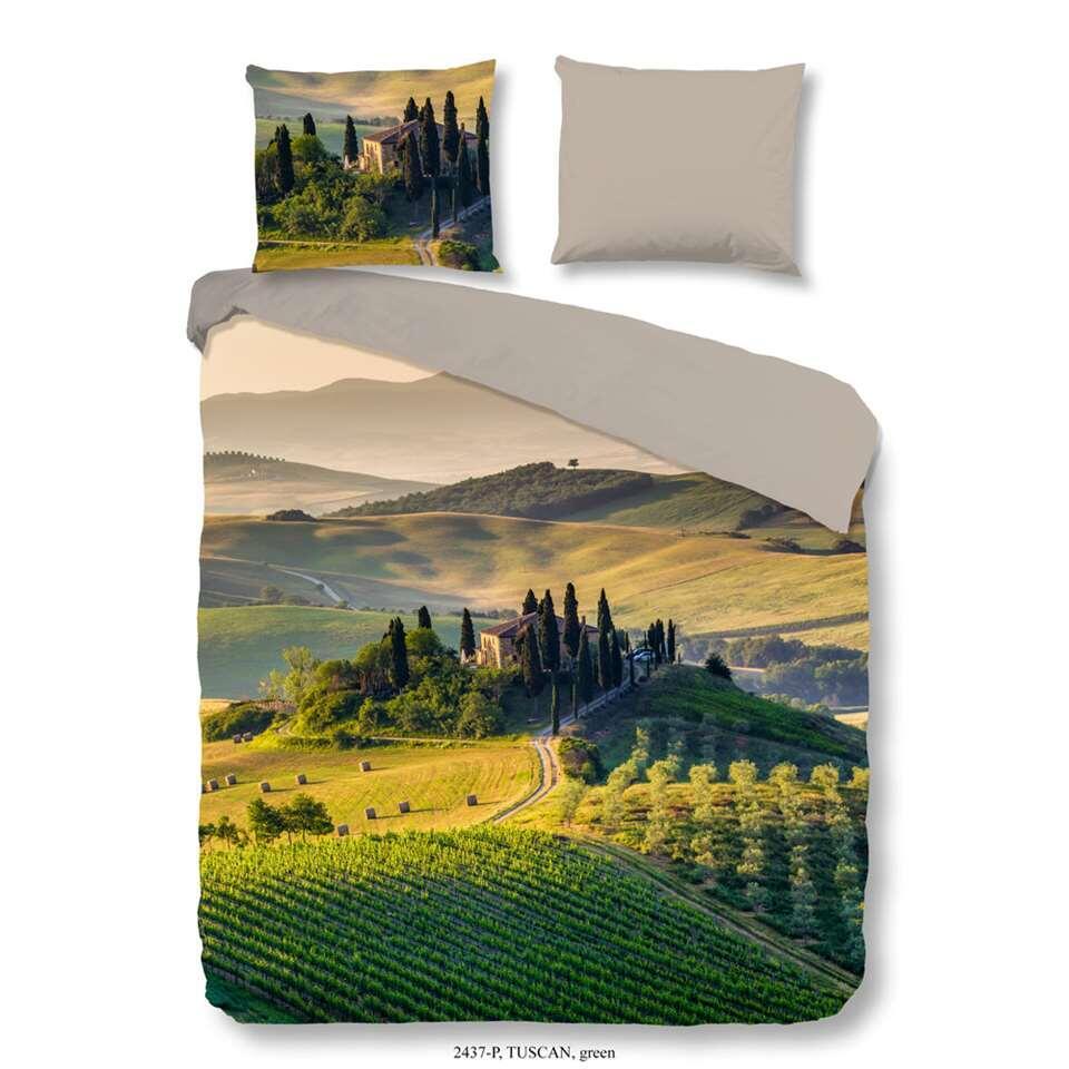 Good Morning dekbedovertrek Tuscan - groen - 240x200/220 cm - Leen Bakker