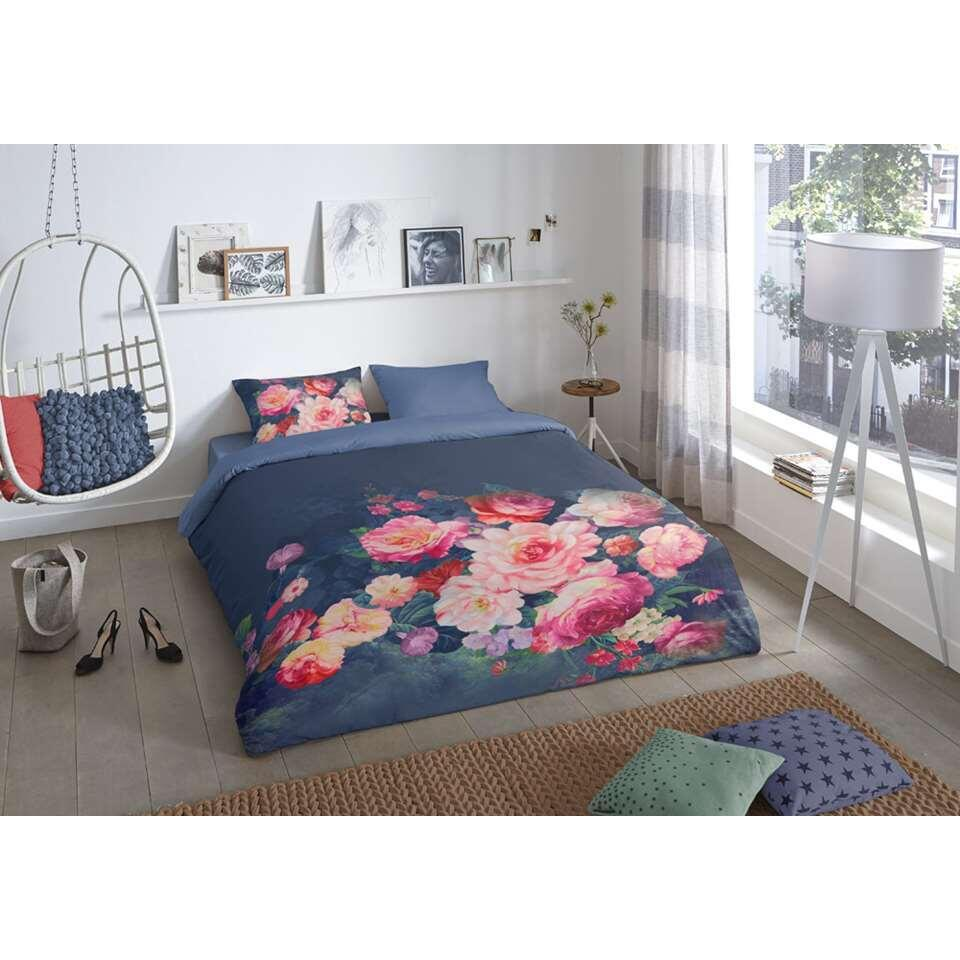 Good Morning dekbedovertrek Bouquet - multikleur - 140x200/220 cm