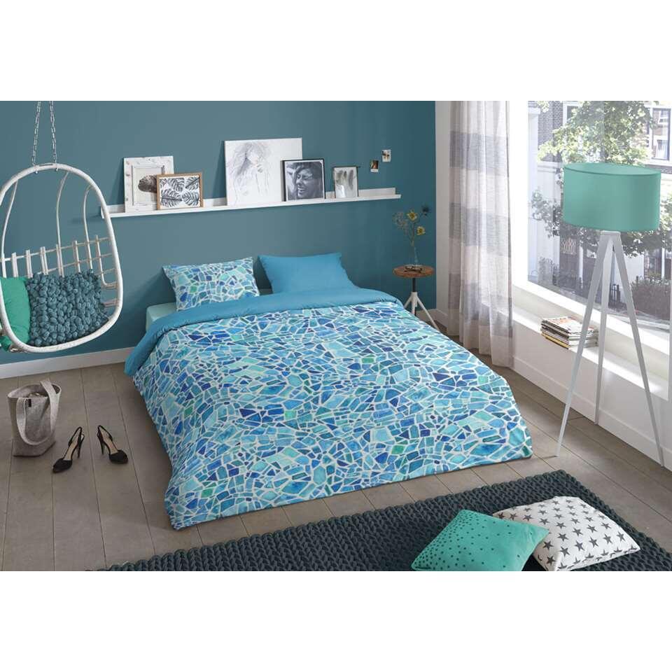 Good Morning dekbedovertrek Mozaik - blauw - 140x200/220 cm