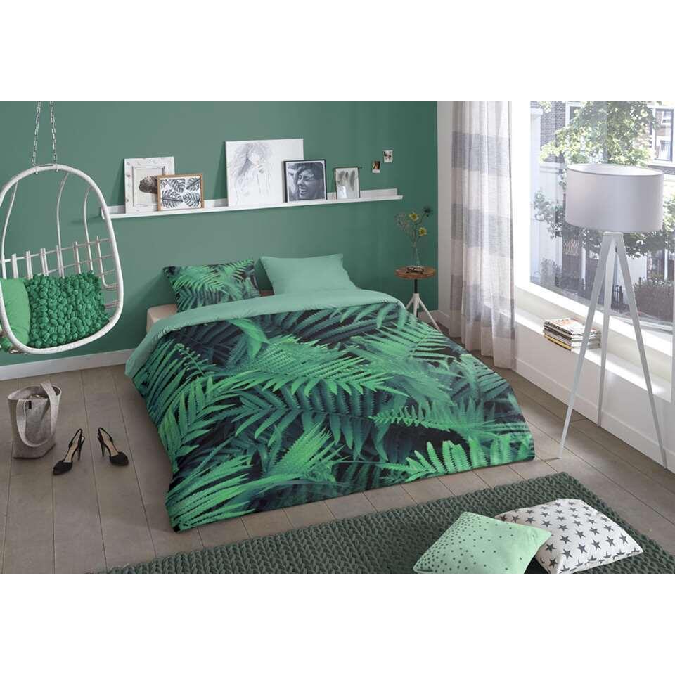 Good Morning dekbedovertrek Ferns - groen - 140x200/220 cm - Leen Bakker
