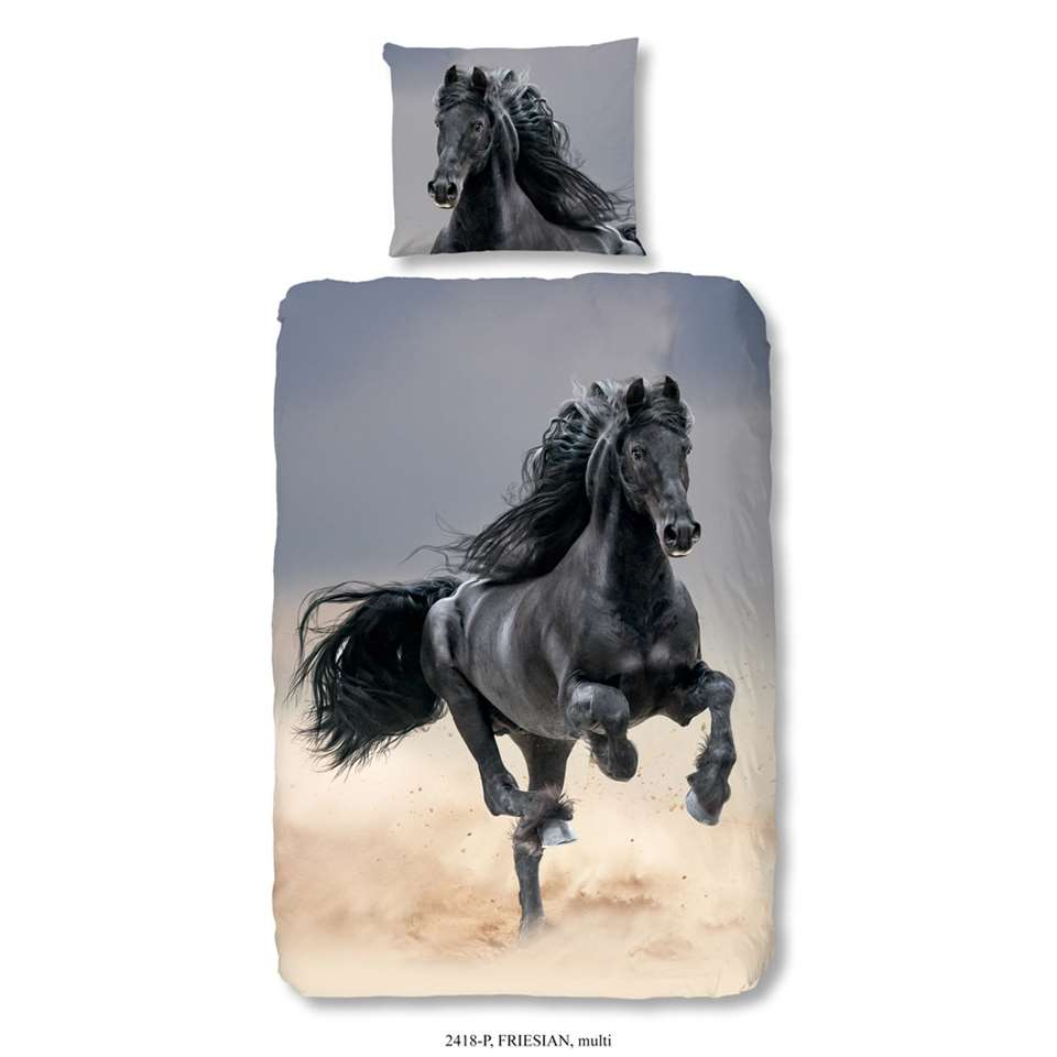 Good Morning kinderdekbedovertrek Friesian - multikleur - 140x200/220 cm - Leen Bakker