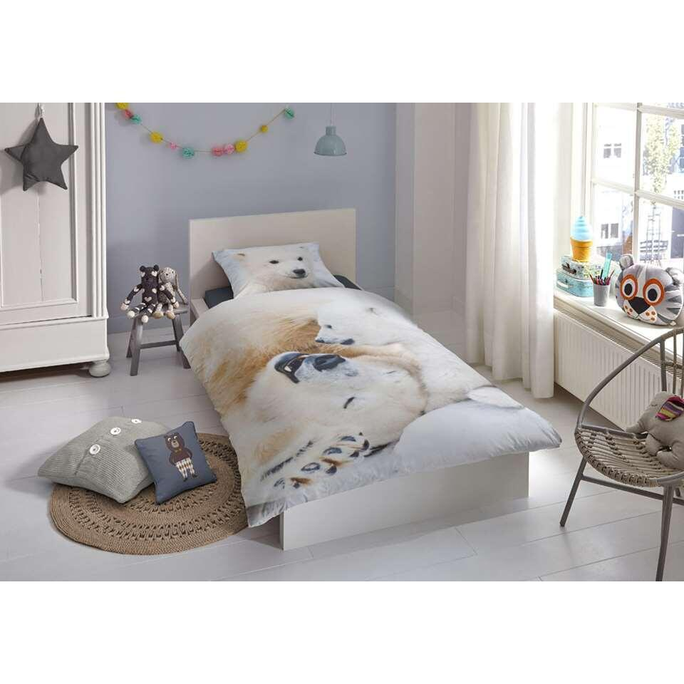 Good Morning kinderdekbedovertrek Cute Bear - wit - 140x200/220 cm