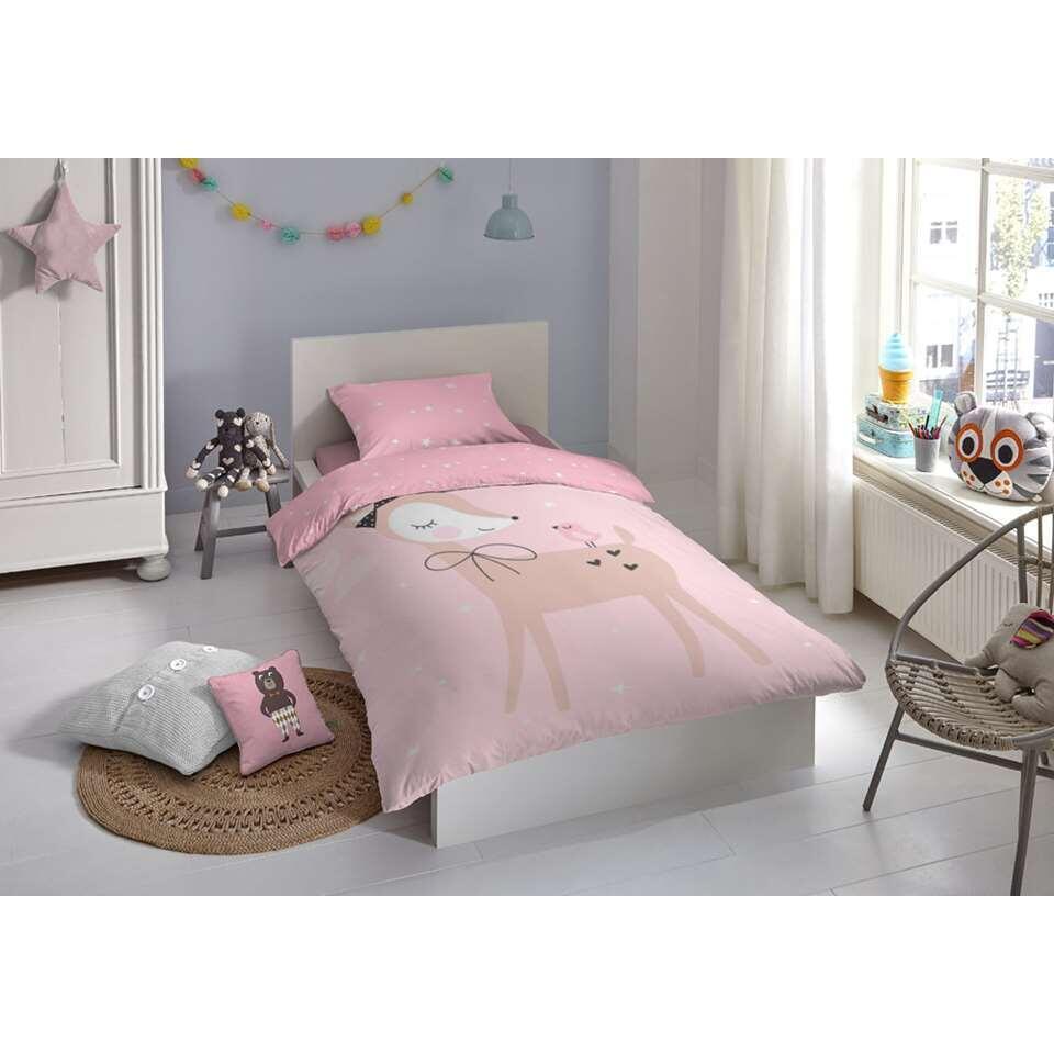 Good Morning junior dekbedovertrek Dolly - roze - 120x150 cm