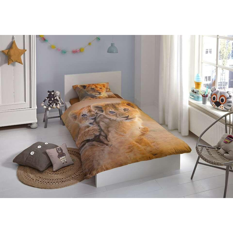 Good Morning kinderdekbedovertrek Baby Lion - multikleur - 140x200/220 cm