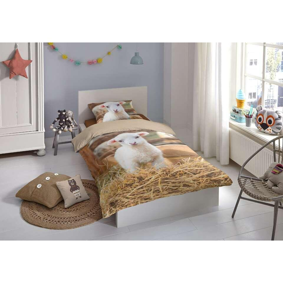 Good Morning kinderdekbedovertrek Lamb - multikleur - 140x200/220 cm