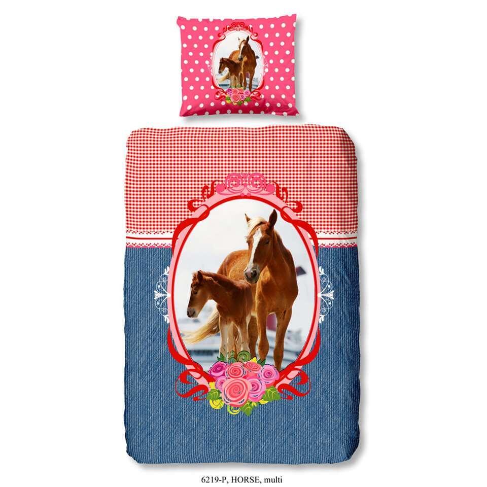 Good Morning kinderdekbedovertrek Horse - multikleur - 140x200/220 cm - Leen Bakker