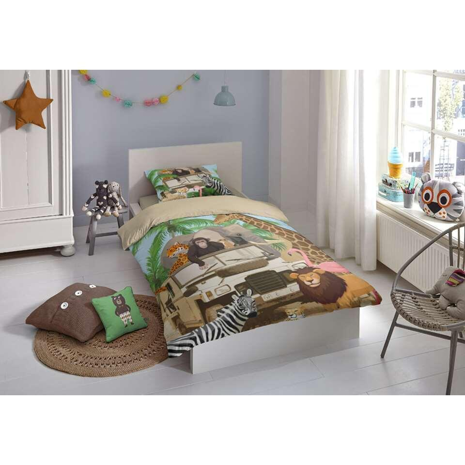 Good Morning kinderdekbedovertrek Jeep Jungle - multikleur - 140x200/220 cm