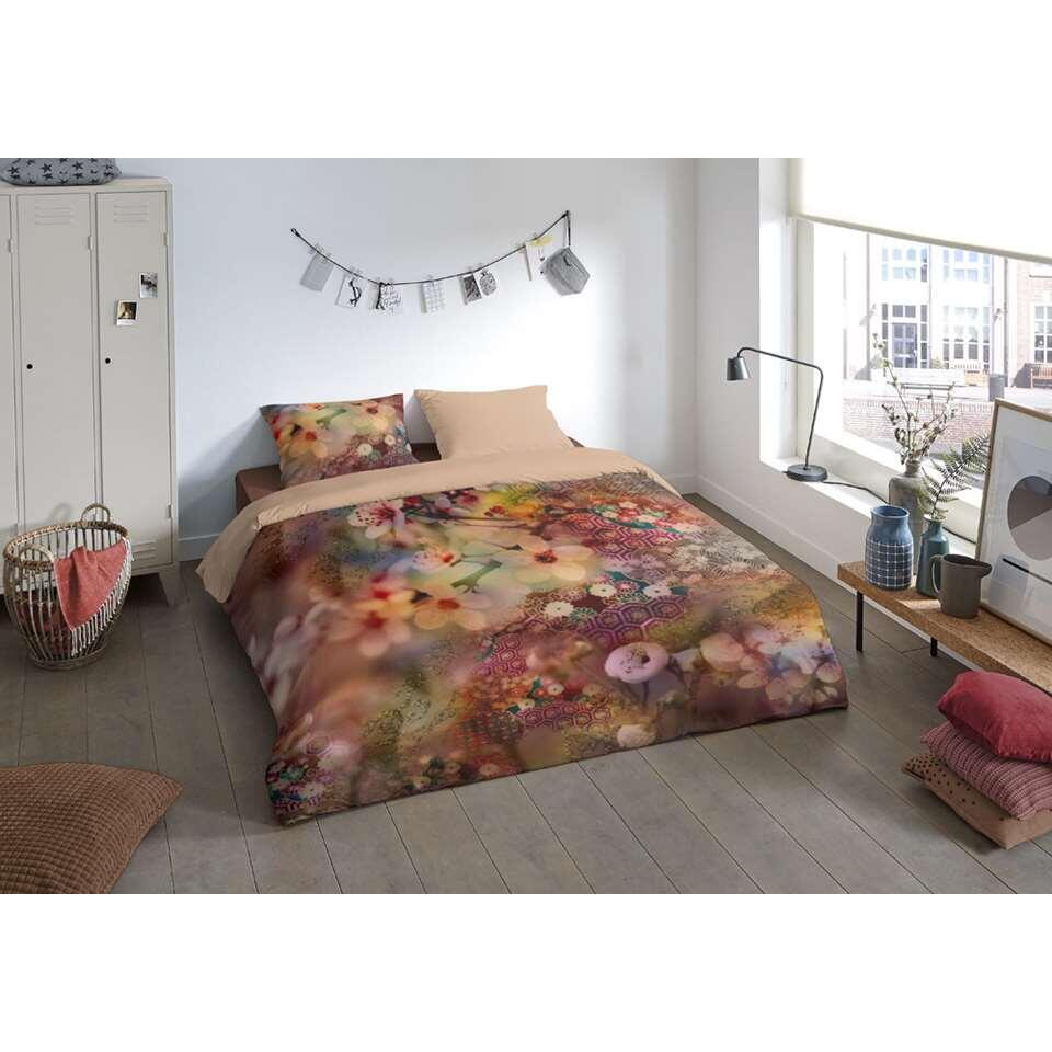 Pure dekbedovertrek Blossom - multikleur - 200x200/220 cm - Leen Bakker