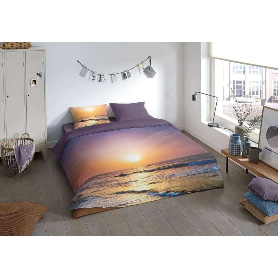 Pure dekbedovertrek Sunset - multikleur - 200x200/220 cm - Leen Bakker