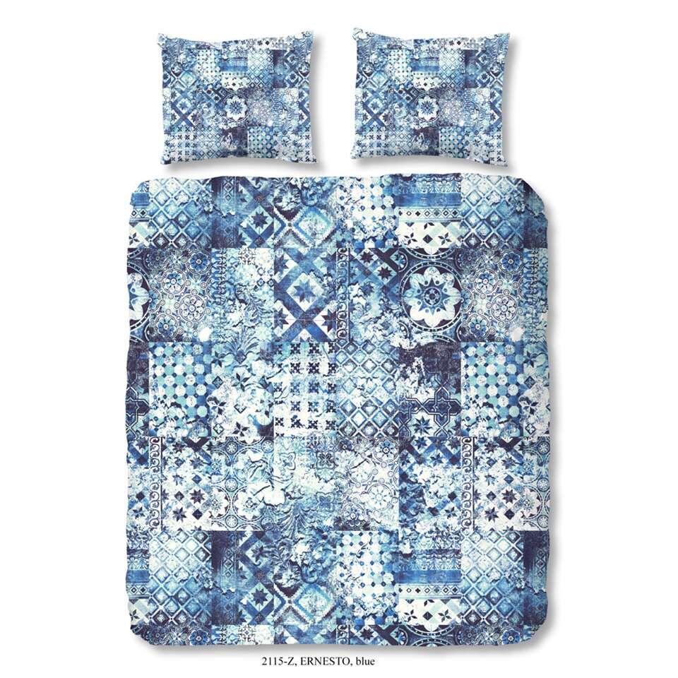 ZouZou dekbedovertrek Ernesto - blauw - 200x200/220 cm - Leen Bakker