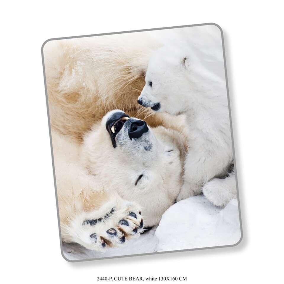 Good Morning plaid Cute Bear - multikleur - 130x160 cm