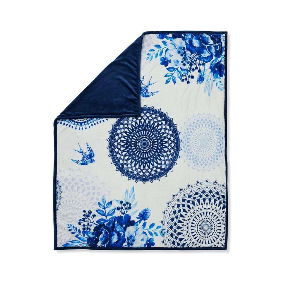 Hip plaid Grande - blauw - 130x160 cm - Leen Bakker