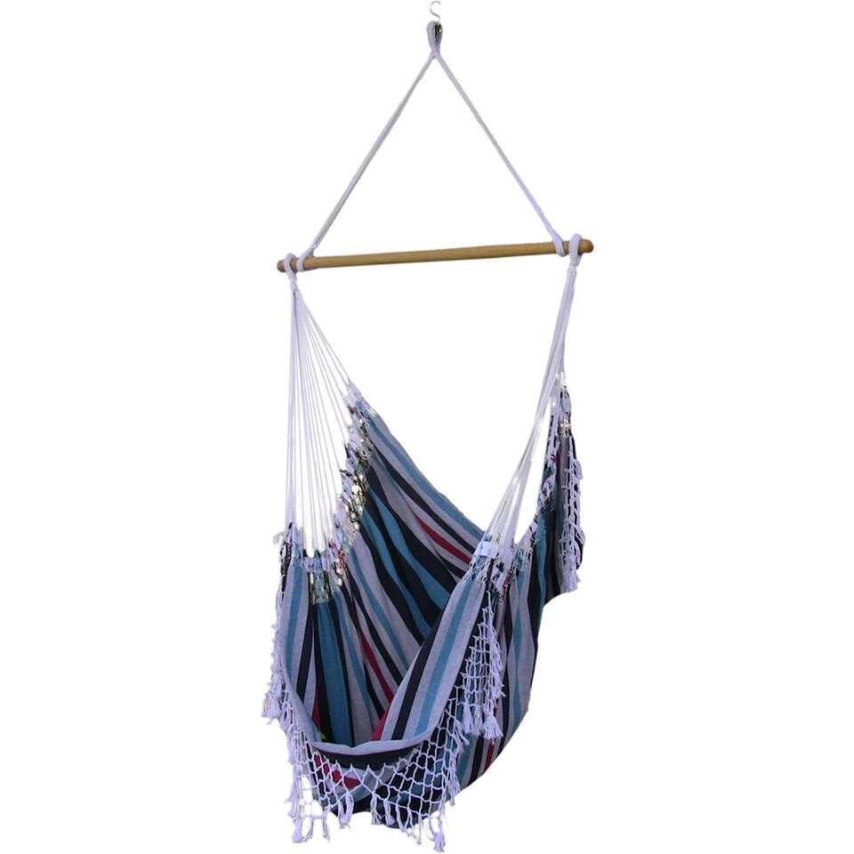 Vivere hangstoel Brazilian Style - 1-persoons - denim - Leen Bakker