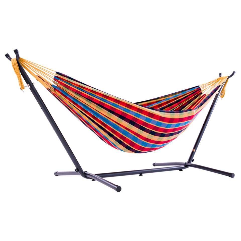 Vivere hangmat Combo (incl. metaalstandaard) - 2-persoons - paradise - Leen Bakker