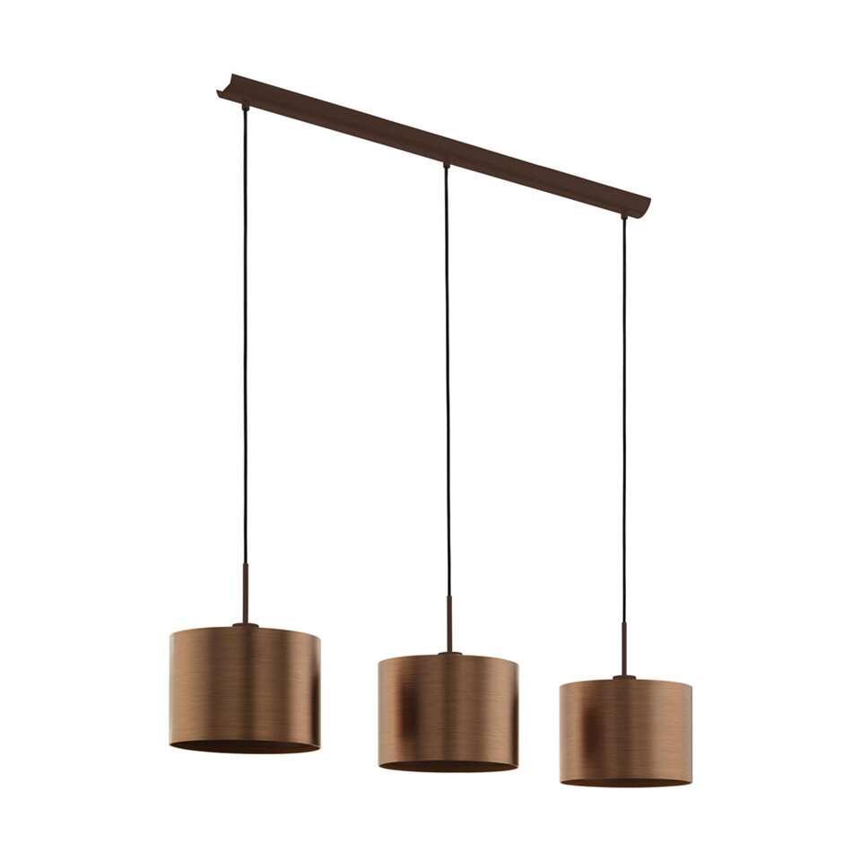 Voorkeur EGLO hanglamp Saganto 3-lichts - bruin/koperkleur JI47