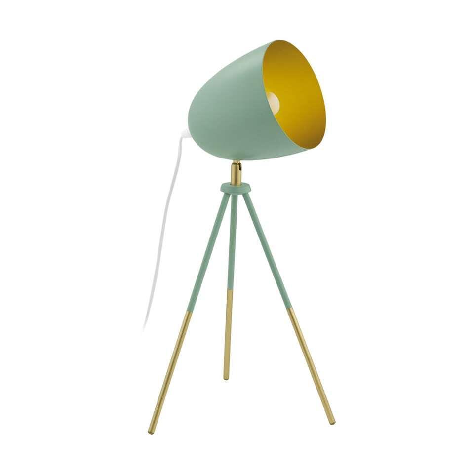 EGLO tafellamp Chester-p - donkergroen/goud - Leen Bakker