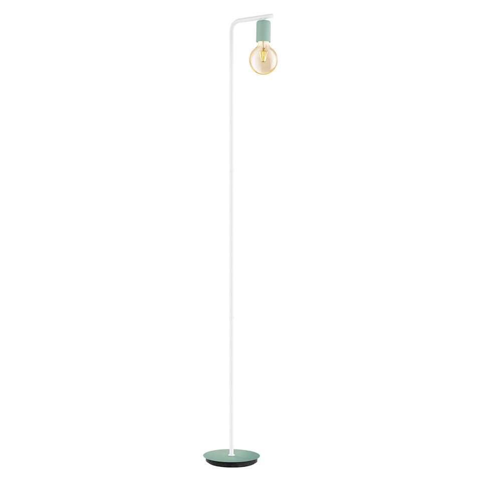 EGLO vloerlamp Adri-p - donkergroen/wit - Leen Bakker