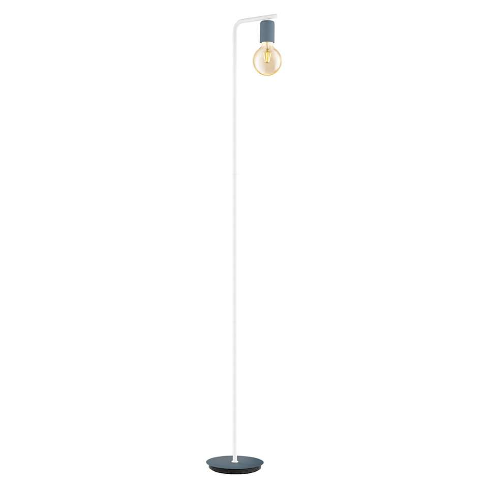 EGLO vloerlamp Adri-p - donkerblauw/wit
