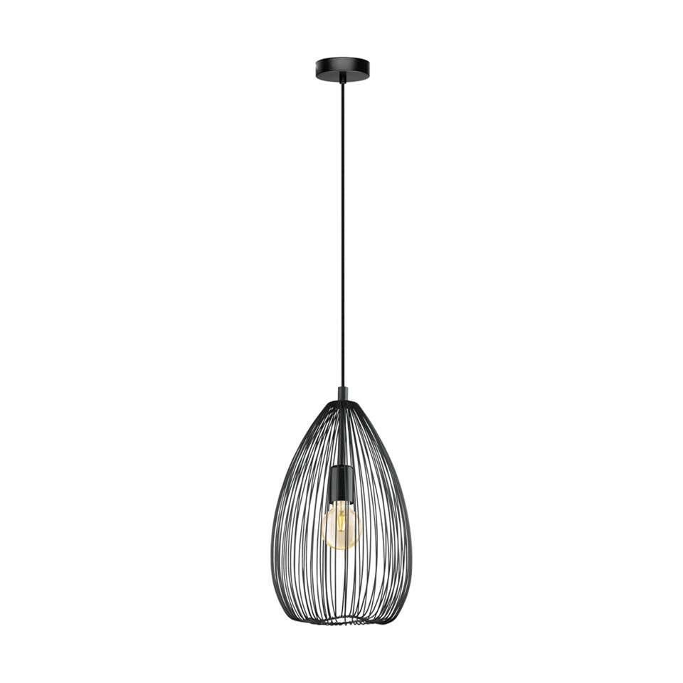 EGLO hanglamp Clevedon - zwart - Leen Bakker