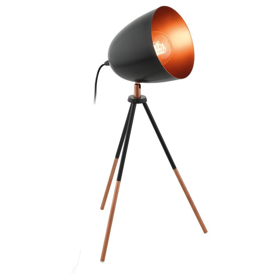 EGLO tafellamp Chester - zwart/koper