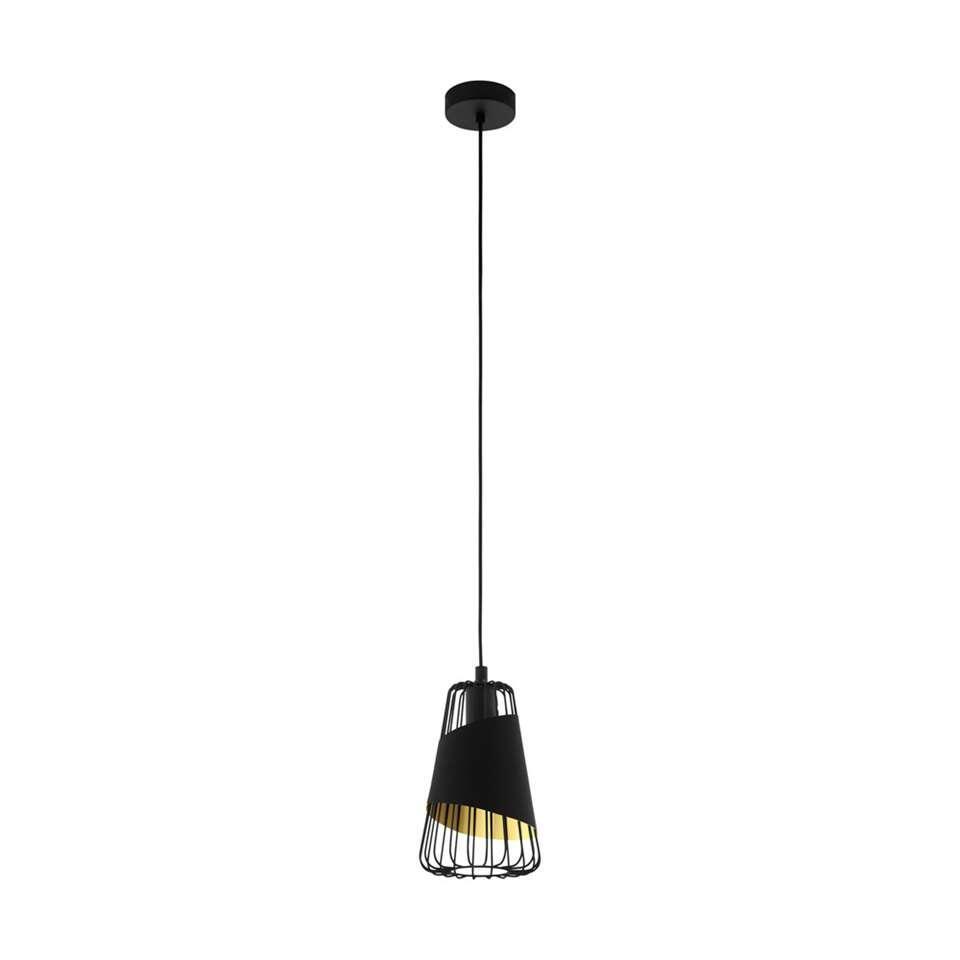 EGLO hanglamp Austell - zwart/goud - Ø16,5 cm - Leen Bakker
