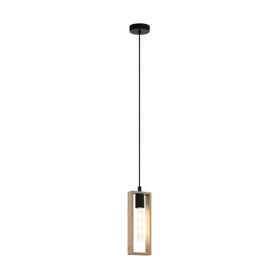 EGLO hanglamp Littleton - zwart/hout