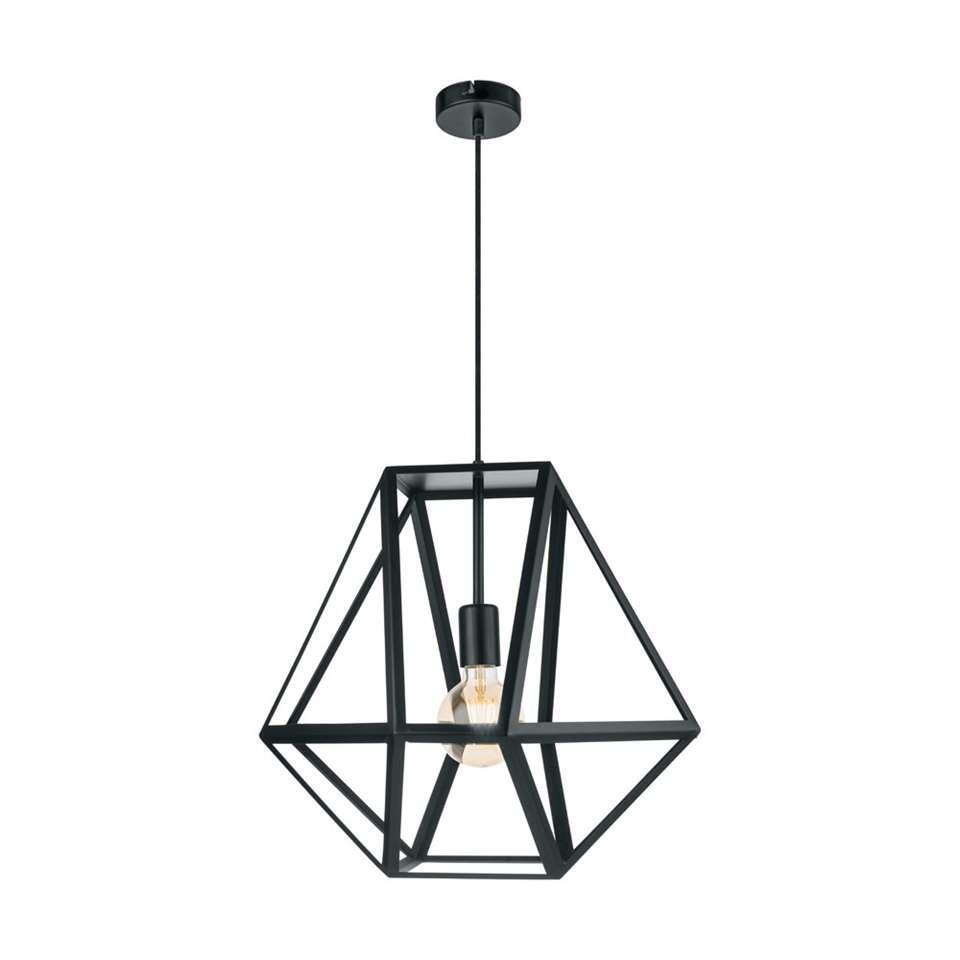EGLO hanglamp Embleton - zwart - Ø46 cm - Leen Bakker