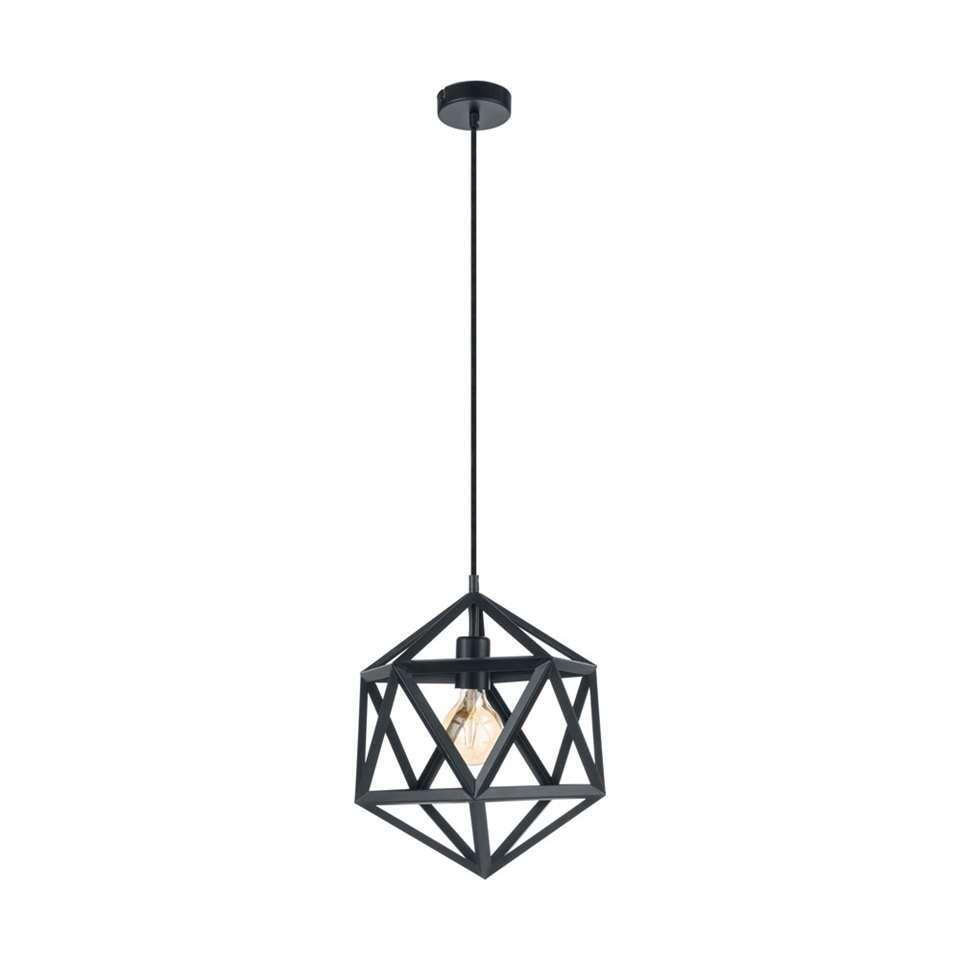 EGLO hanglamp Embleton - zwart - 30,5 cm