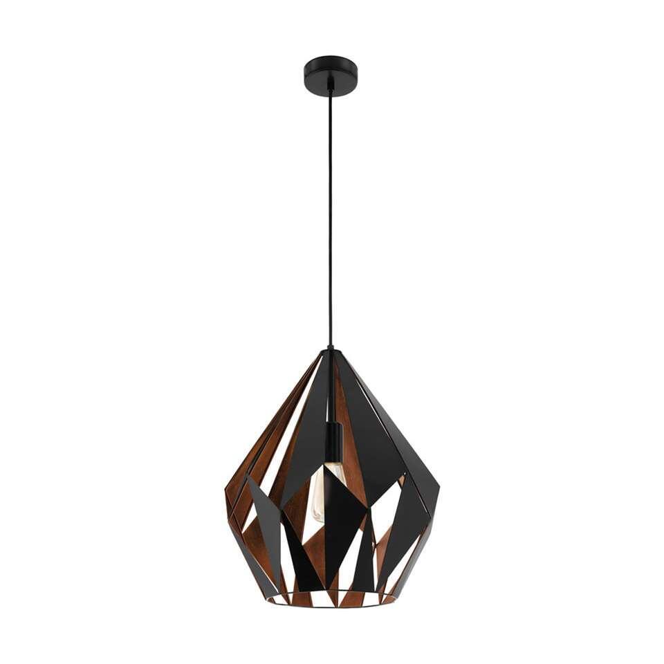 EGLO hanglamp Carlton 1 - zwart/koper - Leen Bakker