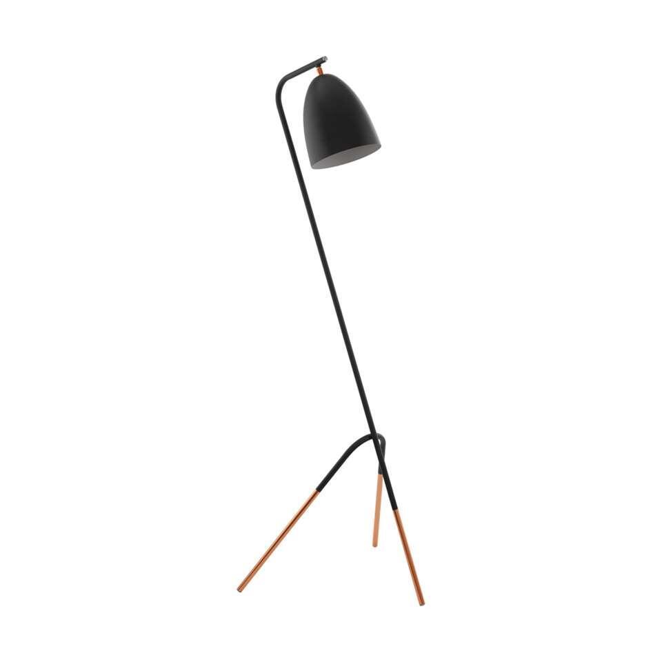 Bekend EGLO vloerlamp Westlinton - zwart/koper YF67